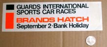 BRANDS HATCH GUARDS TROPHY 1960s paper sticker
